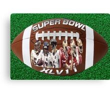 ☝ ☞ SUPERBOWL XLV11 (VERSION ONE ) QUES IS WHO WILL WIN??☝ ☞ Canvas Print