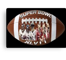 ☝ ☞ SUPERBOWL XLV11 (VERSION TWO ) QUES IS WHO WILL WIN??☝ ☞ Canvas Print