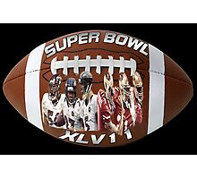☝ ☞ SUPERBOWL XLV11 (VERSION TWO ) QUES IS WHO WILL WIN??☝ ☞ Photographic Print