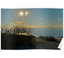 Beautiful Morning at Huntington State Park Beach Poster
