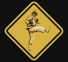 Beware of Ryu Hurricane Kick Road Sign - Second Version by eZonkey