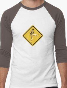 Beware of Ryu Hurricane Kick Road Sign - Second Version Men's Baseball ¾ T-Shirt