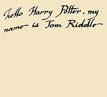 Harry Potter: My Name is Tom Riddle by RobynEJeffrey