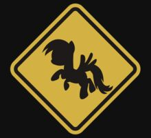 Beware of My Little Pony Road Sign Kids Tee