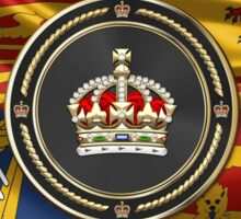 Imperial Tudor Crown over Royal Standard of the United Kingdom Sticker