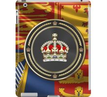Imperial Tudor Crown over Royal Standard of the United Kingdom iPad Case/Skin
