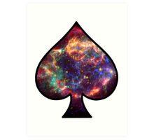 Cosmic Spade Art Print