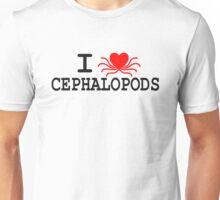 I Heart Cephalopods - Dark On Light Unisex T-Shirt