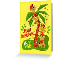 Menehune Christmas Greeting Card