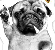 metal pug Sticker