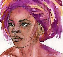 woman in a turban by Irina Fominykh