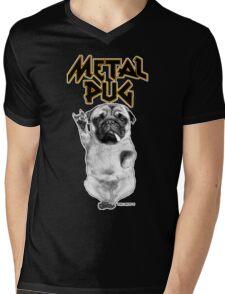 metal pug Mens V-Neck T-Shirt