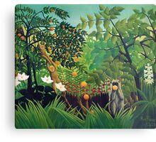 Henri Rousseau - Exotic Landscape Metal Print