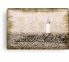 White lighthouse sketch Canvas Print
