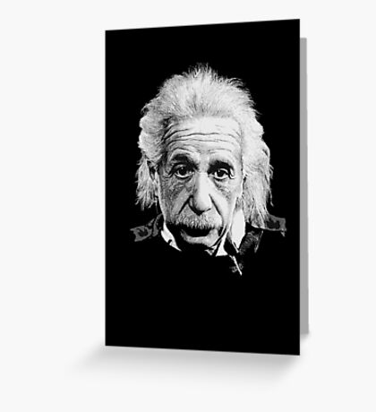 Albert Einstein E=mc² Illustration Greeting Card