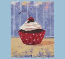 Red Cherry Cupcake One Piece - Short Sleeve