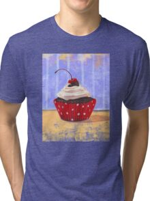 Red Cherry Cupcake Tri-blend T-Shirt