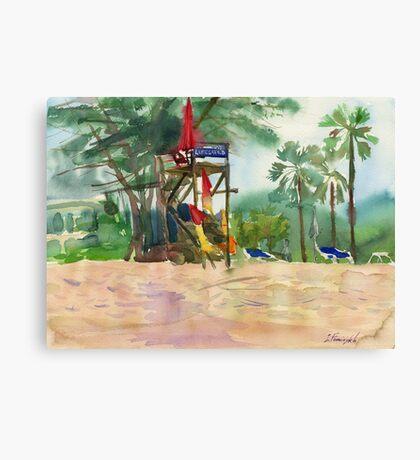 lifeguards at the beach Canvas Print