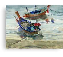 Two boats on the sea Canvas Print