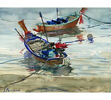 Two boats on the sea Photographic Print