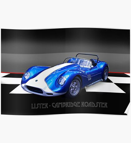 Lister - Cambridge Roadster Poster