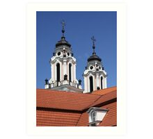 Baroque church Art Print