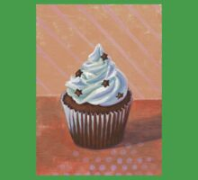 Chocolate Stars Cupcake One Piece - Short Sleeve