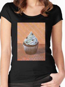 Chocolate Stars Cupcake Women's Fitted Scoop T-Shirt