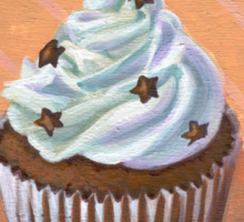 Chocolate Stars Cupcake Sticker