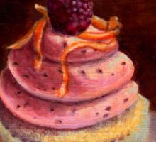 Purple Raspberry Cupcake Sticker