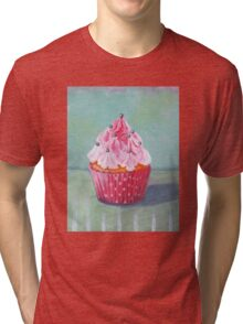 Pink Mountain Cupcake Tri-blend T-Shirt