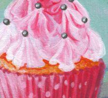 Pink Mountain Cupcake Sticker
