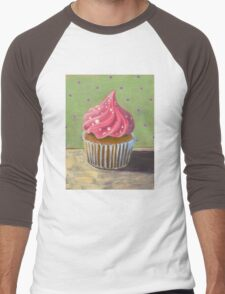 Russian Pink Cupcake Men's Baseball ¾ T-Shirt