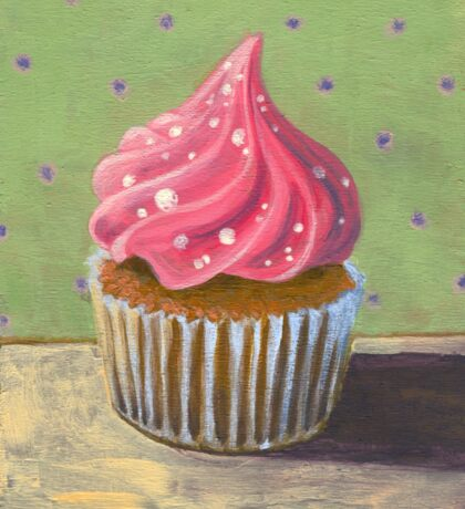 Russian Pink Cupcake Sticker