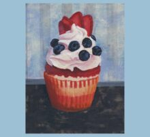Mad Blueberries Cupcake Kids Tee