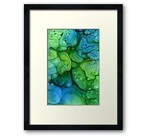 Shifting and melding Framed Print