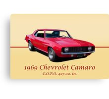 1969 Chevrolet Camaro COPO 427 w/ ID Canvas Print