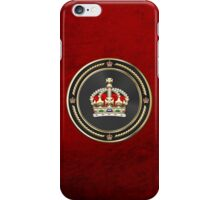 Imperial Tudor Crown over Red Velvet iPhone Case/Skin