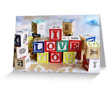 Love Cubes Greeting Card