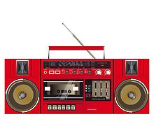 ghettoblaster illustration by dubassy