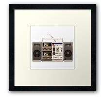 ghettoblaster illustration Framed Print