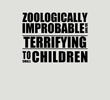 Zoologically Improbable { Black Text } Unisex T-Shirt
