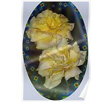 Emblematic yellow roses Poster