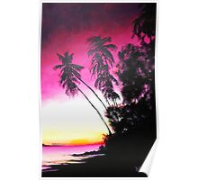 Palms in Silhouette Poster