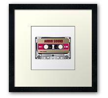 tape cassette illustration Framed Print