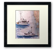 Crab Fishing Boat SHEARWATER TWO WA Nautical Chart Cathy Peek Framed Print
