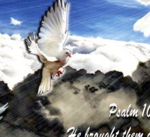 Psalm 107:14 Sticker