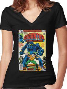 Gigantor Women's Fitted V-Neck T-Shirt