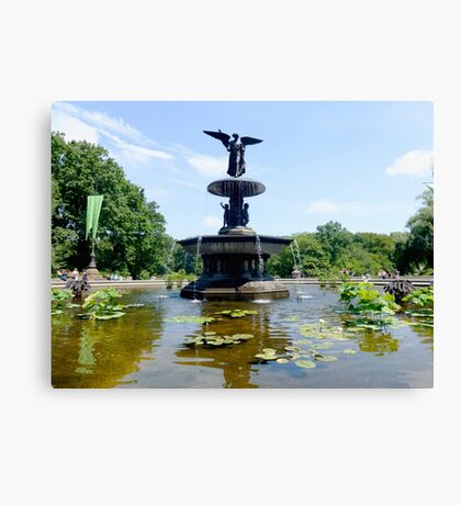 Bethesda Fountain in Central Park Summer 2015 Canvas Print