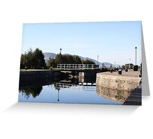Neptune's Ladder Caledonian Canal at Corpach, Scotland Greeting Card